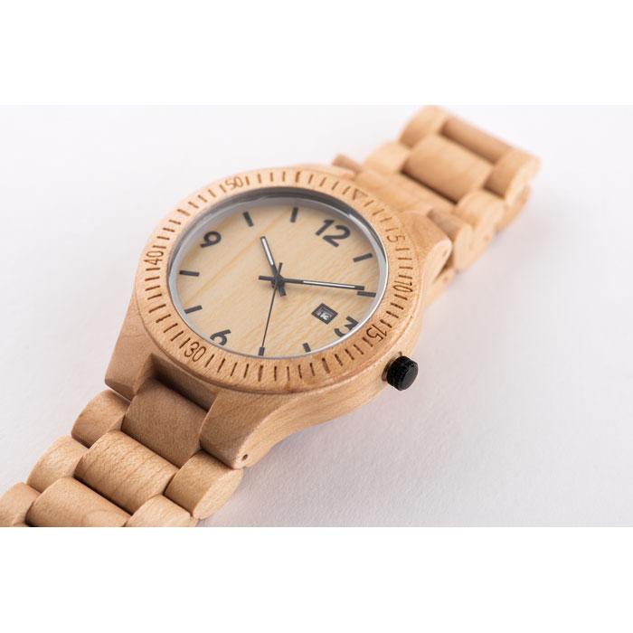 Reklamní dřevěné náramkové hodinky