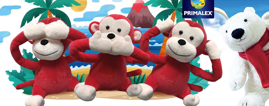 Primalex reklamní plyšové hračky