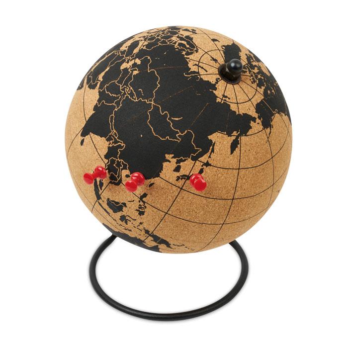 Reklamní globus z korku