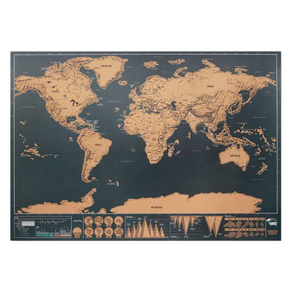Velká stírací mapa světa