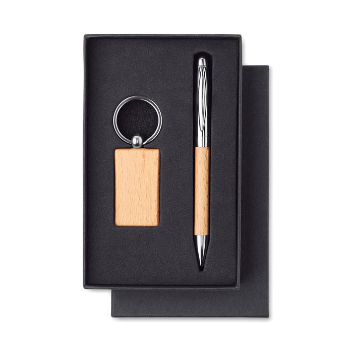 Set klíčenky a propisky dřevo PEN & RING