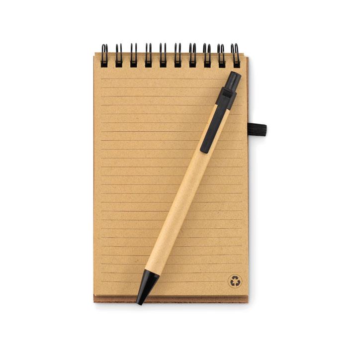 Zápisník A6 s propiskou korek