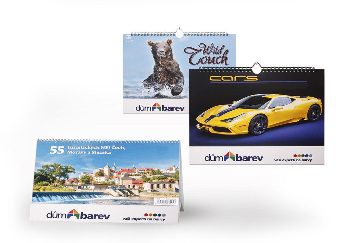 Kalendáře a diáře s reklamním potiskem