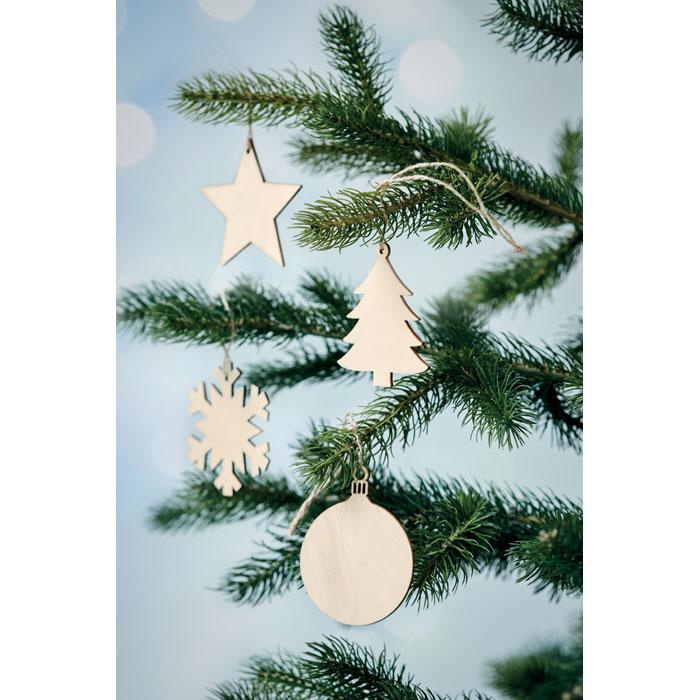 Dřevná vánoční ozdoba kruh BALY