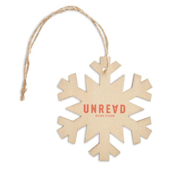 Dřevěná vánoční ozdoba vločka NEUY