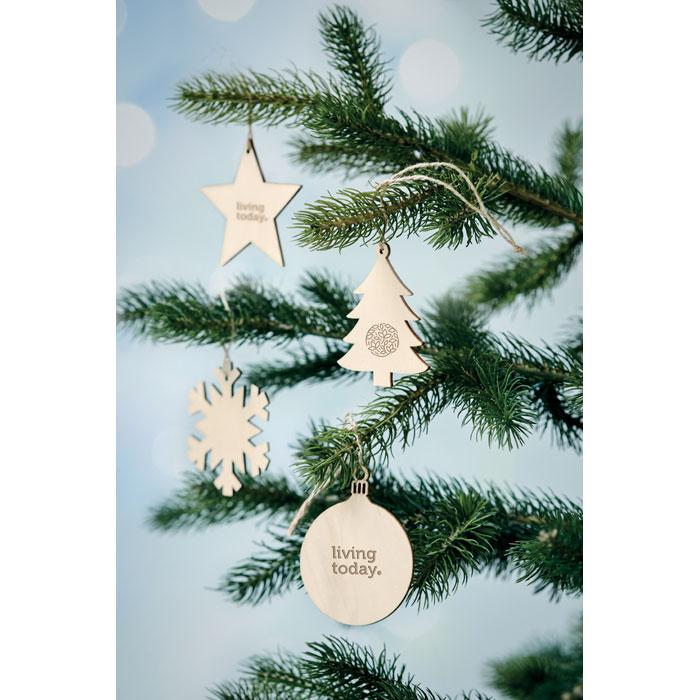 Dřevěná vánoční ozdoba hvězda ESTY