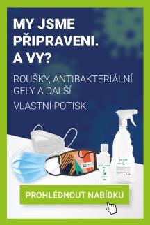 roušky s potiskem, antibakteriální gely, FFP2