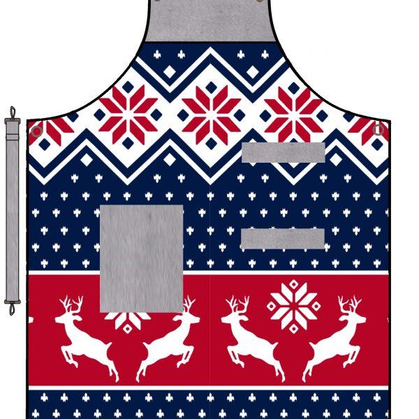 vánoční kuchyňská zástěra