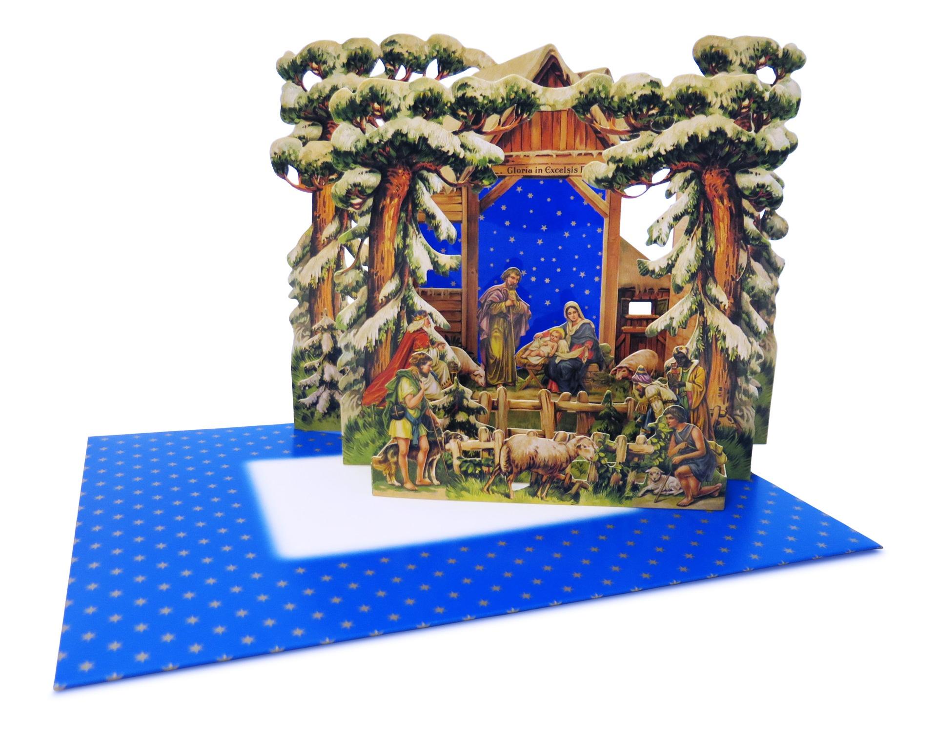Papírový betlém v obálce