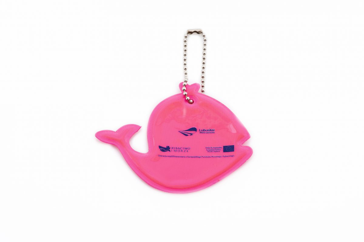 reflexní přívěsek na klíče velryba