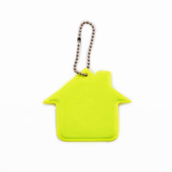 reflexní přívěsek na klíče domeček