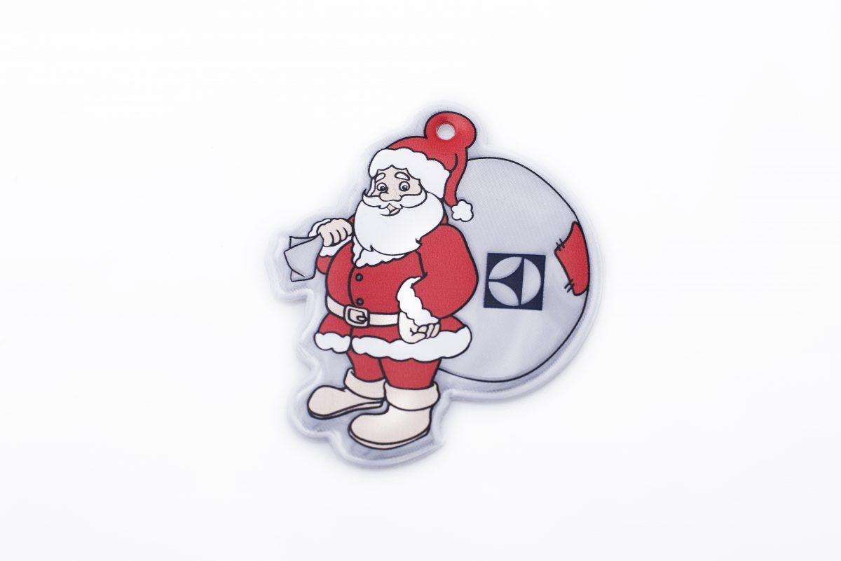 reflexní přívěsky na klíče vánoce