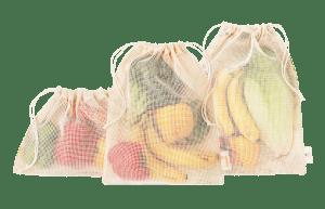 ekologické pytlíky na zeleninu a ovoce - sada 3 ks