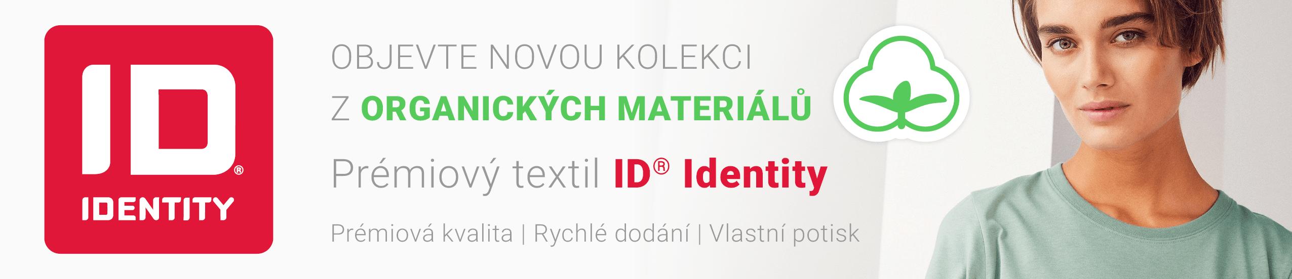 Kvalitní textil ID Identity s reklamním potiskem - nová kolekce z organických materiálů 2021