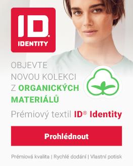 Prémiový textil ID Identity s reklamním potiskem - nová kolekce z organických materiálů 2021