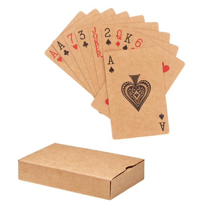 Hrací karty z recyklovaného papíru ARUBA +