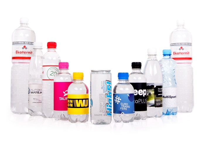 reklamní vody s potiskem loga