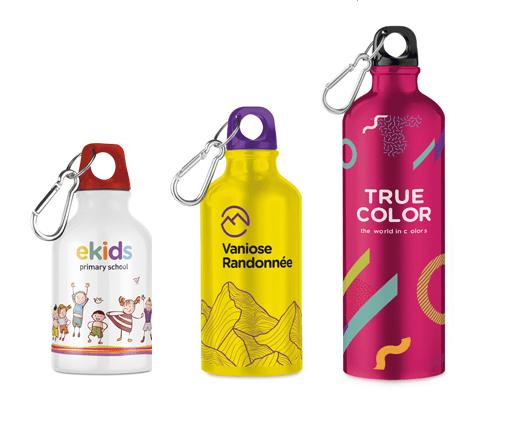 Reklamní lahve s karabinou vlastní potisk