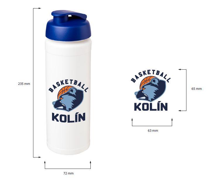 Sportovní láhev s vyklápěcím víčkem BASELINE® Plus grip 750 ml